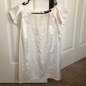 Express small- Worn once white silk blouse